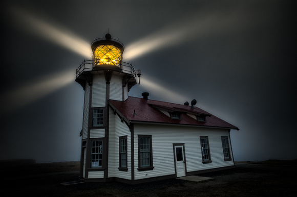 Point Cabrillo Light Station, fog beacon (photo by Howard Ignatius, used courtesy of Creative Commons)