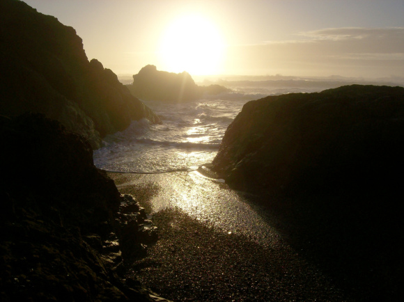 Those in the know head for Fort Bragg's Glass Beach.