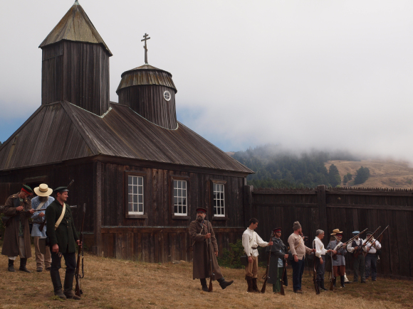 Fort Ross Historical Musket and Canon Demonstration photo by Frank Folini, courtesy of Creative Commons