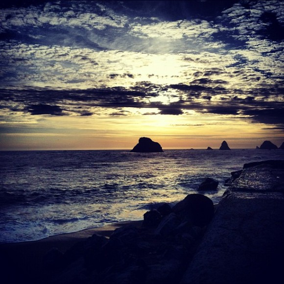 West Coast Sunset, near Goat Rock and Jenner Photo by Joel Scott, used courtesy of Creative Commons
