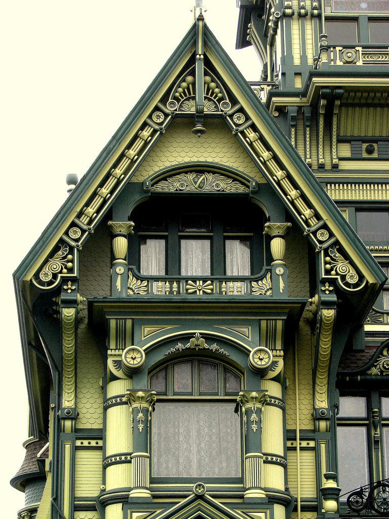 Detail of Eureka's Carson Mansion (photo by David Berry)