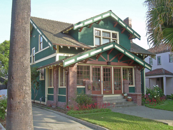 The Craftsman style bungalow is popular everywhere in California (this home is in San Jose), and represents the middle-class desire for quality craftsmanship. (photo by David Sawyer)
