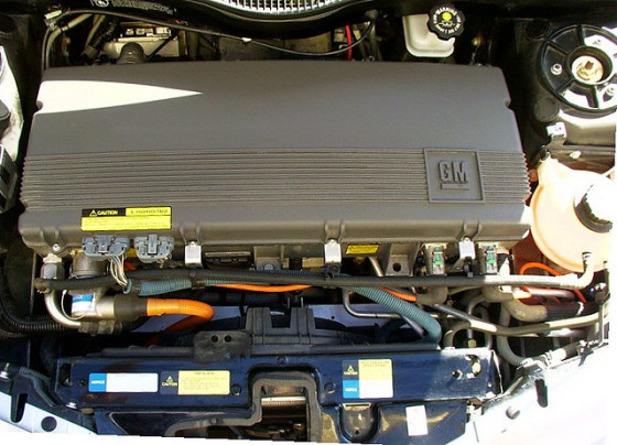 Does an engine get any simpler than not being an engine at all? (engine compartment of the EV1, photo by Right Brain Photography)
