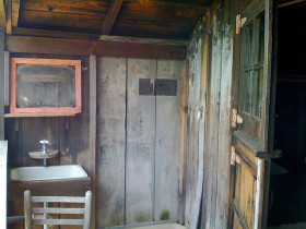 Inside Cabin 2 at the West Point Inn: pretty basic (photo by Patti Roll)