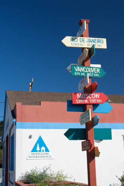 The Monterey Hostel will help you locate yourself, globally. (photo by Robbin Gheesling)